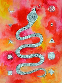 NaagYantra by Pragati Sharma Mohanty, , , Red color