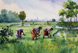 Landscape by Balakrishnan S, , , Green color