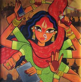 MumbaDevi by Niloufer Wadia, , , Brown color