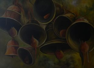 Faith by Prasoon Poddar, Realism, Realism Painting, Oil on Canvas, Blue color