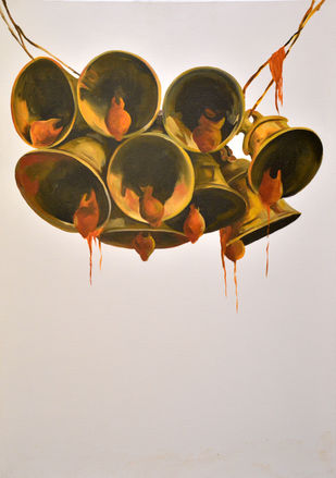 Faith by Prasoon Poddar, Realism, Realism Painting, Oil & Acrylic on Canvas, Brown color