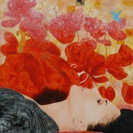 Flower and Dream Digital Print by Abhisek Dey,Fantasy, Fantasy