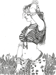BlackWhiteBeauty4 by Ramchandra Kharatmal, , , Gray color