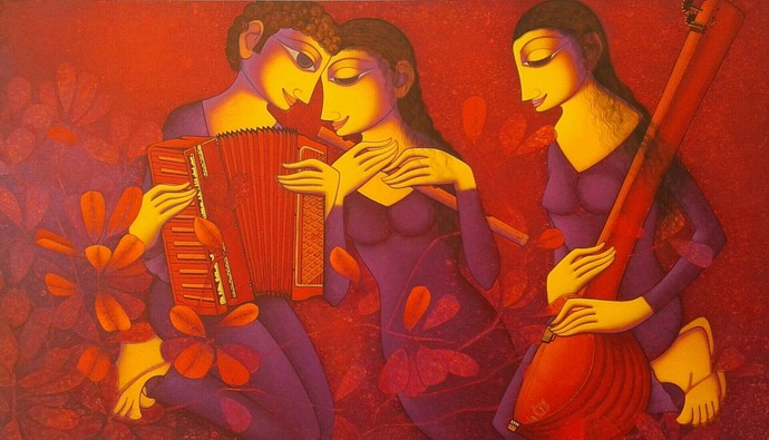Untitled by Prakash Deshmukh, Decorative Painting, Acrylic on Canvas,