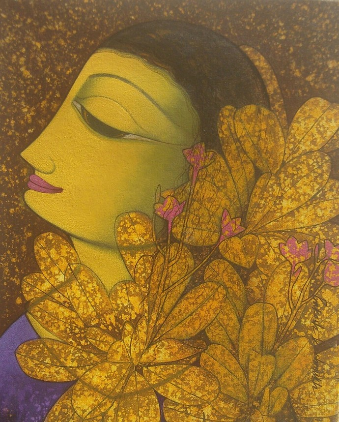 Untitled by Prakash Deshmukh, Decorative Painting, Acrylic on Canvas,