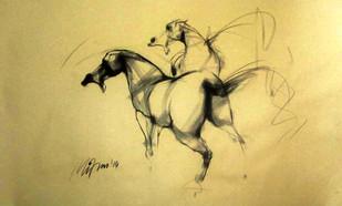 Motion VII by Mithun Dutta, , , Beige color