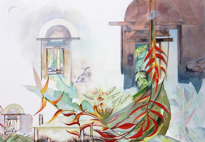 My Dream Garden 17 Digital Print by Vijay Kiyawat,Fantasy