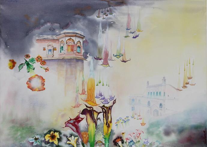 My Dream Garden 20 Digital Print by Vijay Kiyawat,Fantasy