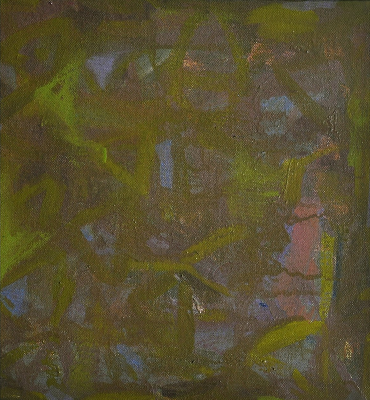 Untitled1 by Arpita Yogesh Pawar, Abstract Painting, Acrylic on Canvas, Green color
