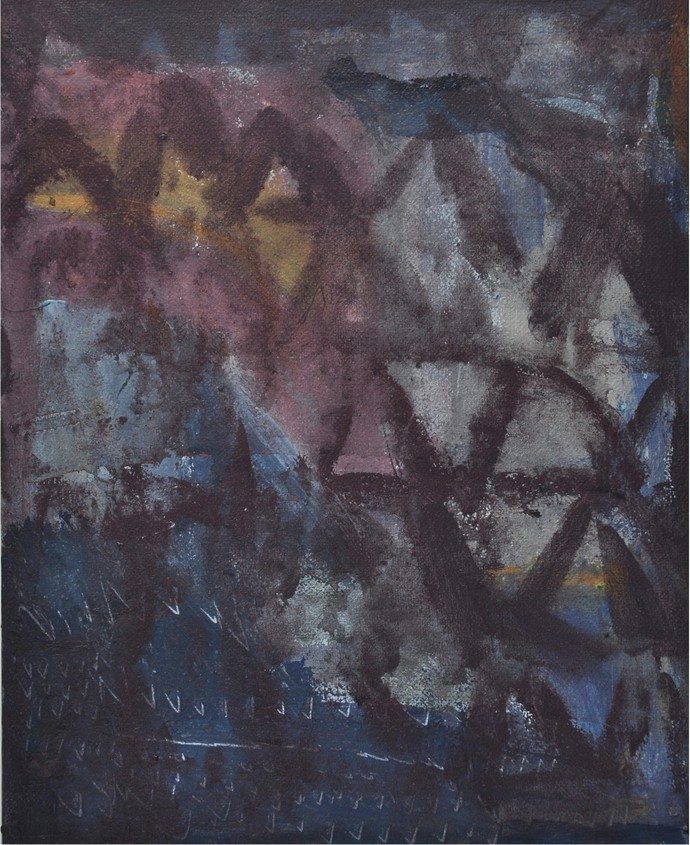 Untitled 4 by Arpita Yogesh Pawar, Abstract Painting, Acrylic on Board, Gray color