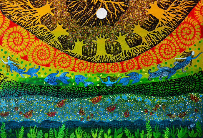 Twilight & Mermaids by Pragati Sharma Mohanty, , , Green color