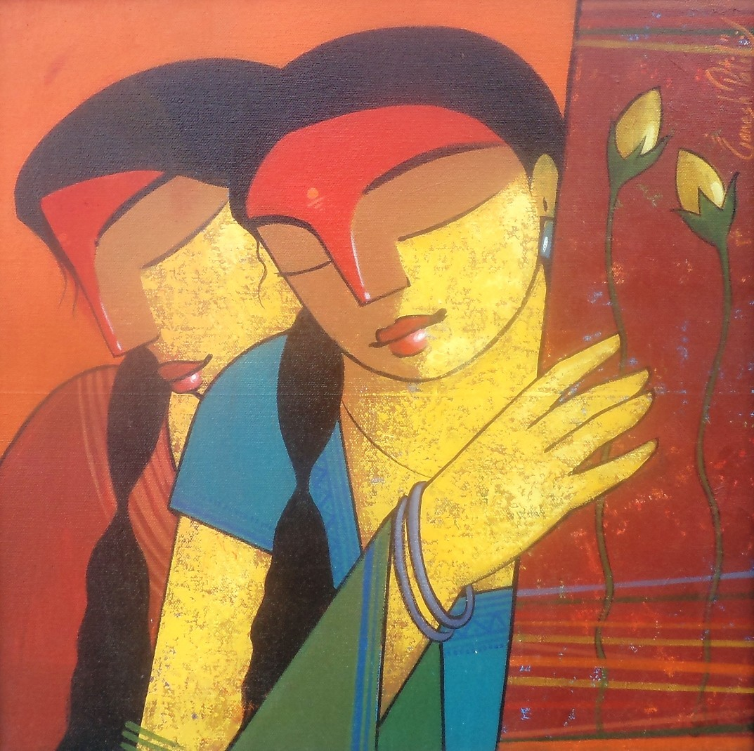 Untitled by Ganesh Patil, Decorative Painting, Acrylic on Canvas, Brown color