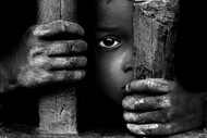 Captive by Asis Kumar Sanyal, Photography, Digital Print on Paper, Gray color