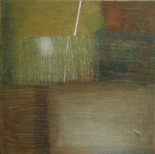 Shadow Becomes Reality 8 by Anil Gaikwad, Abstract Painting, Oil Pastel on Canvas, Brown color
