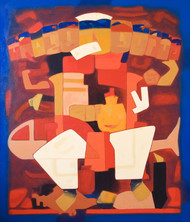 Avatar by Dipak Asole, Decorative Painting, Acrylic on Canvas, Brown color