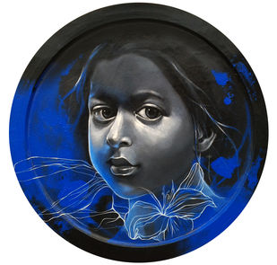 Dream II by Mithun Dutta, Decorative Painting, Acrylic on Wood, Gray color