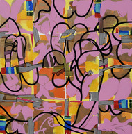 Metropolitan Fantasy by Prabhinder Singh Lall, Geometrical Painting, Acrylic & Ink on Canvas, Brown color