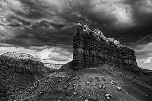 Red Mountain, NM, USA. by Asis Kumar Sanyal, Photography, Digital Print on Paper, Gray color