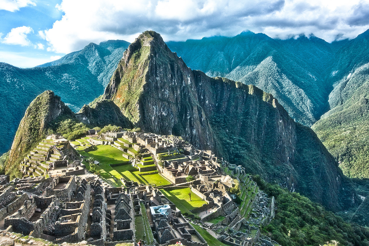 Machu Picchu, Peru by Asis Kumar Sanyal, Photography, Digital Print on Paper, Green color
