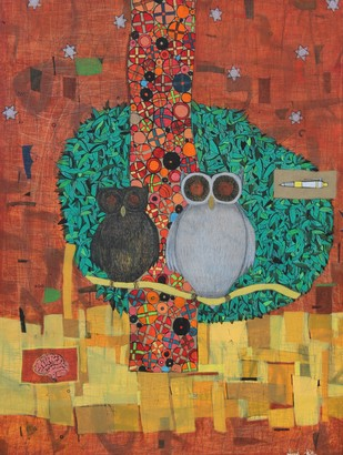 Virasat by Himanshu Lodwal, Decorative Painting, Acrylic on Canvas, Brown color