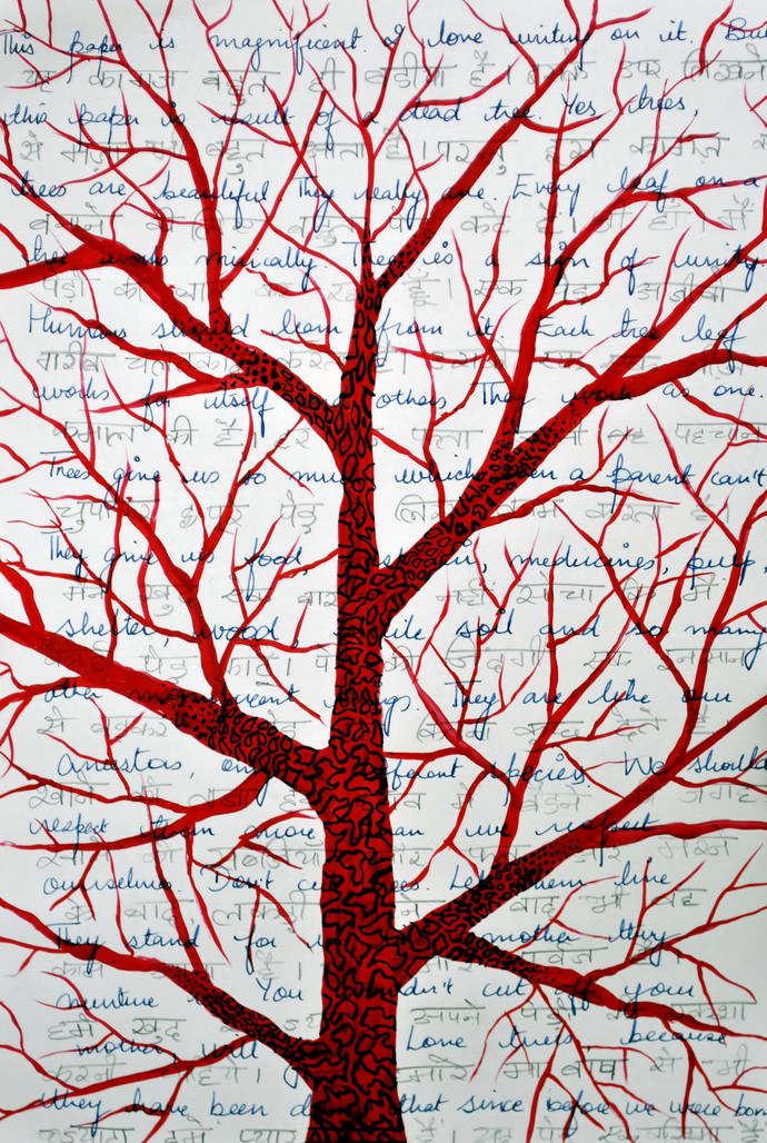 Save Trees by Sumit Mehndiratta, , , Pink color