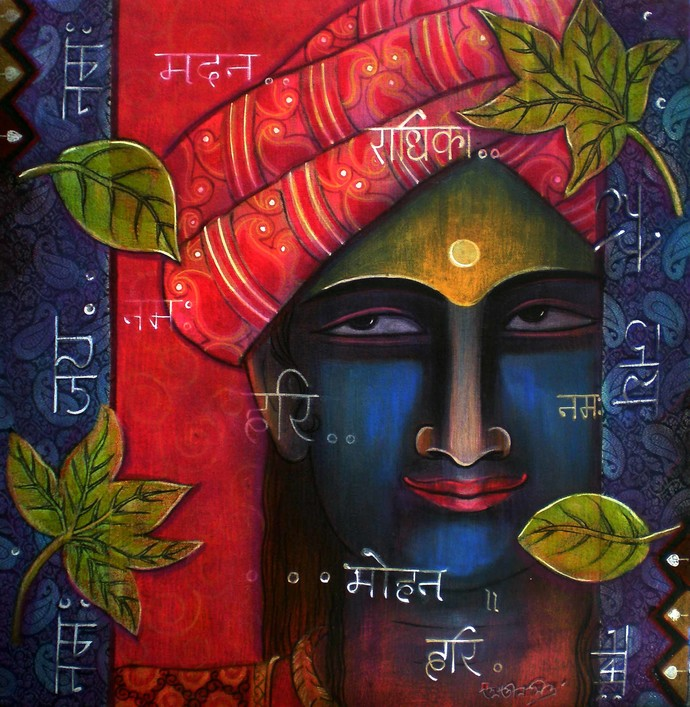 Kanha Digital Print by Atin Mitra,Impressionism