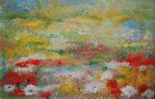 Wild Poppies Digital Print by Prenita Dutt,Impressionism