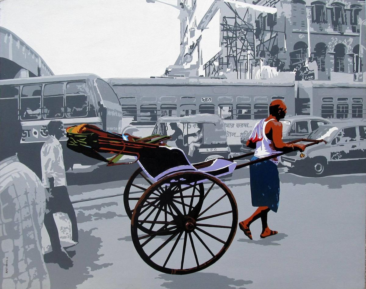 City 2 Digital Print by Amit Nayek,Pop Art