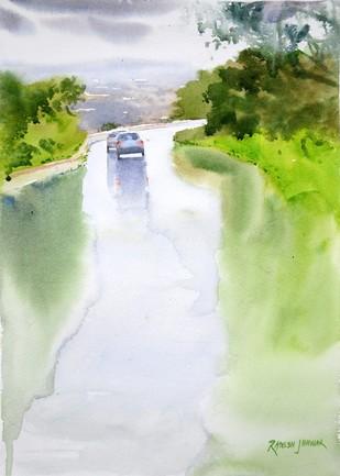 Monsoon Showers 2 by Ramesh Jhawar, , , Gray color
