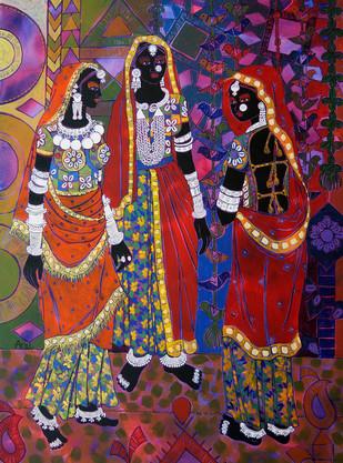 Ethnic Serendipity 8 Digital Print by Anuradha Thakur,Traditional