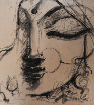 SHE - 2 by Subrata Ghosh, , , Brown color