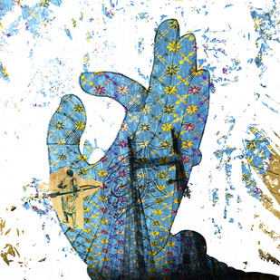 Mudra by Sayak Mitra, Conceptual Digital Art, Digital Print on Paper, White color