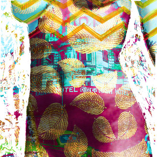 She by Sayak Mitra, Conceptual Digital Art, Digital Print on Paper, Brown color