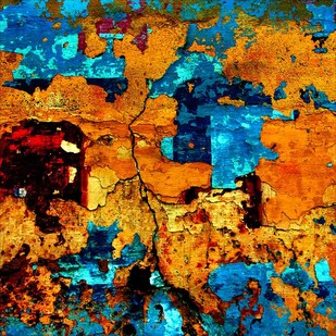 Abstract 01 by CR Shelare, Image Photograph, Digital Print on Canvas, Brown color