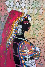 Serene Harmony 54 Digital Print by Anuradha Thakur,Traditional