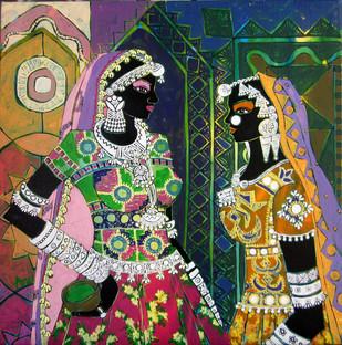 Serene Harmony 47 Digital Print by Anuradha Thakur,Traditional