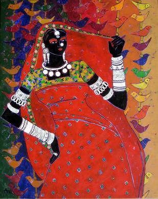 Serene Harmony 29 Digital Print by Anuradha Thakur,Traditional