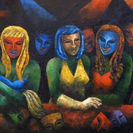 Gae0050 rupak goswami 36in x 74in oil on canvas 2008 lower right