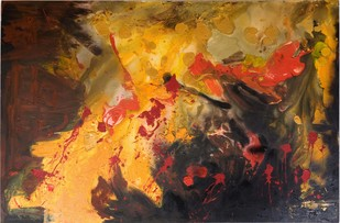 'My Experiences with truth' -(1.) by Rashmi Khurana, Abstract Painting, Acrylic on Canvas, Brown color