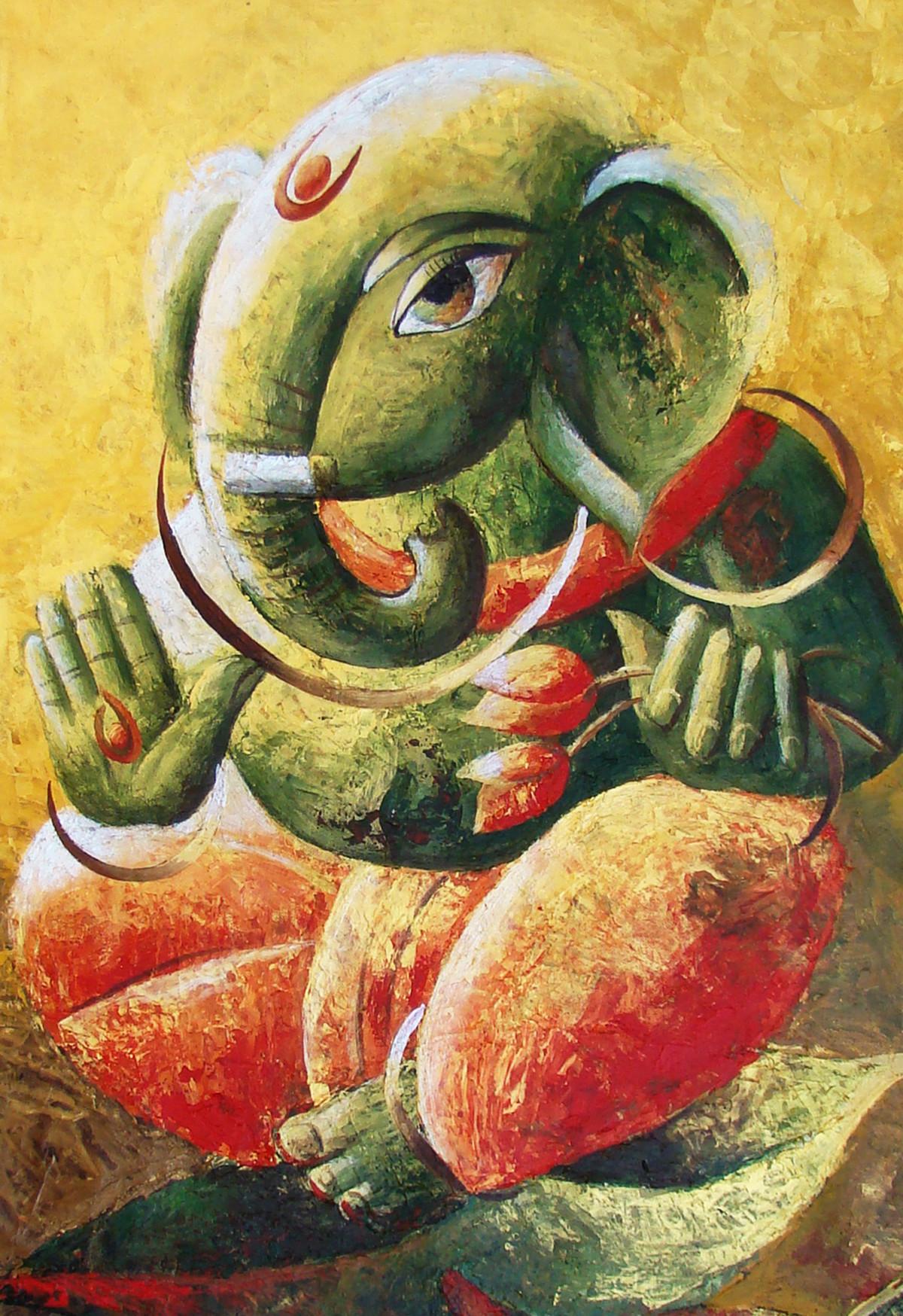 Ganesh Ji by Dhananjay Mukherjee, , ,