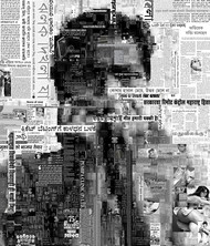 You are not in the News - 03 by Saptarshi Das, Conceptual Digital Art, Digital Print on Paper, Gray color