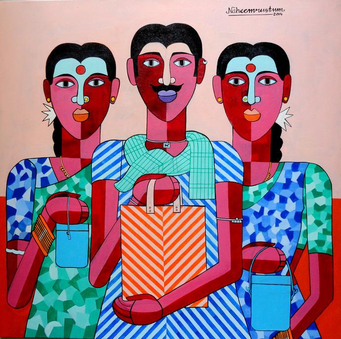 Farm Labour Digital Print by Naheem Rustum,Decorative