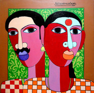 The Village Couple by Naheem Rustum, Decorative Painting, Acrylic on Canvas, Brown color