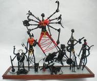 Durga by Uttam Manna, Decorative Sculpture | 3D, Metal, Gray color