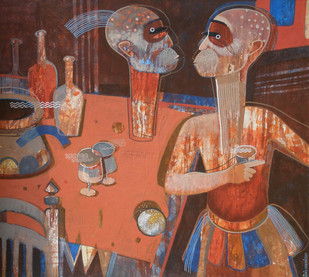 Still Life - D by Ashis Kabasi, , , Brown color