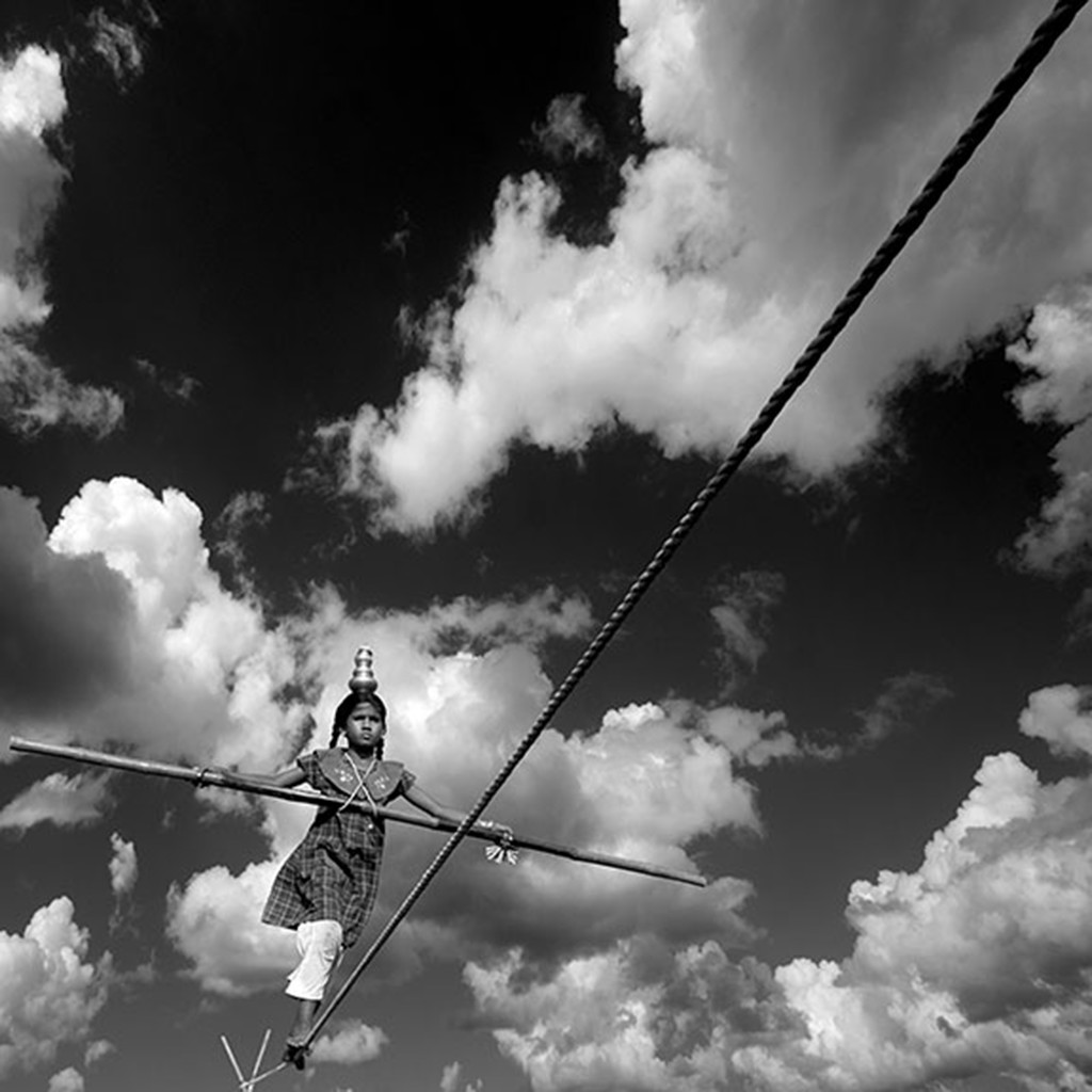 Soaring Pains by CR Shelare, Image Photograph, Digital Print on Canvas, Gray color