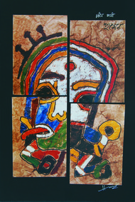 Rangin Kali by M F Husain, , , Brown color
