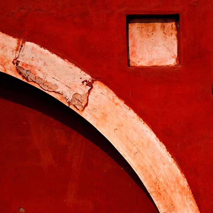 Architectural Abstract 03 by CR Shelare, Image Photograph, Digital Print on Canvas, Red color