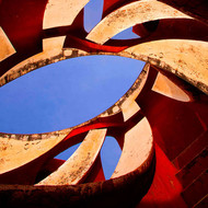 Architectural Abstract 07 by CR Shelare, Image Photography, Digital Print on Canvas, Brown color