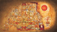 Profit & Loss by Dr. Bharati Mate, Conceptual Painting, Mixed Media on Canvas, Brown color
